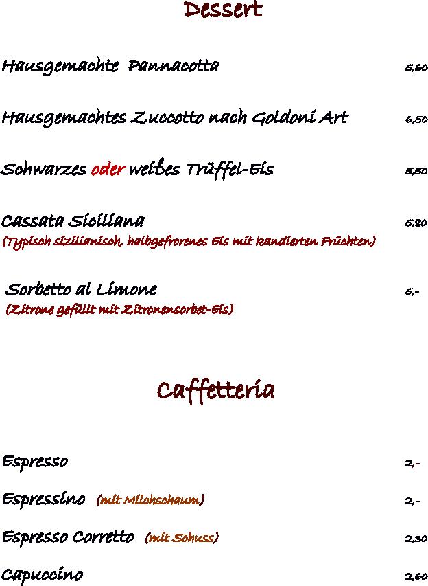 Dessert & Caffetteria